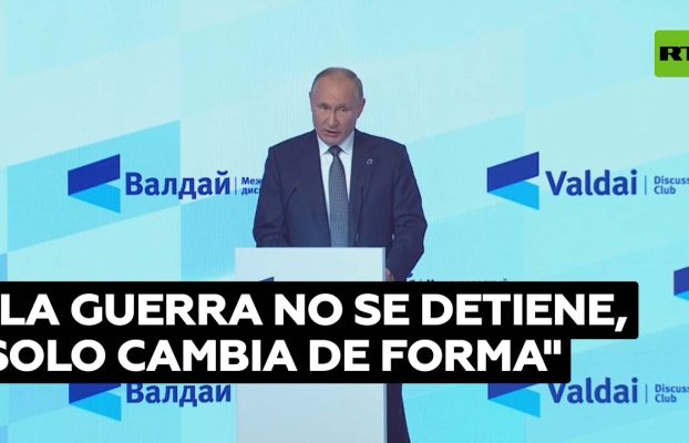 Putin expresa su opinión sobre las guerras en la era moderna
