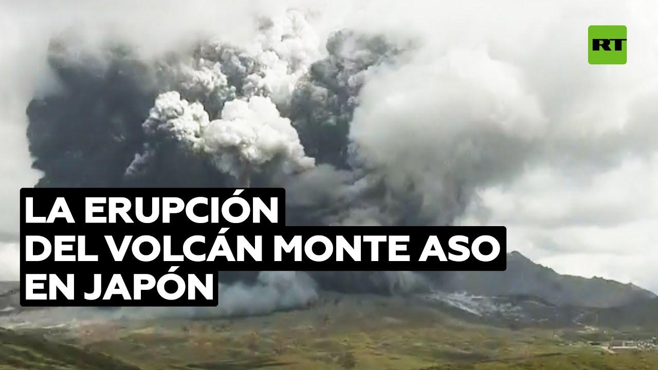 'Time-lapse' de la erupción del volcán monte Aso en Japón