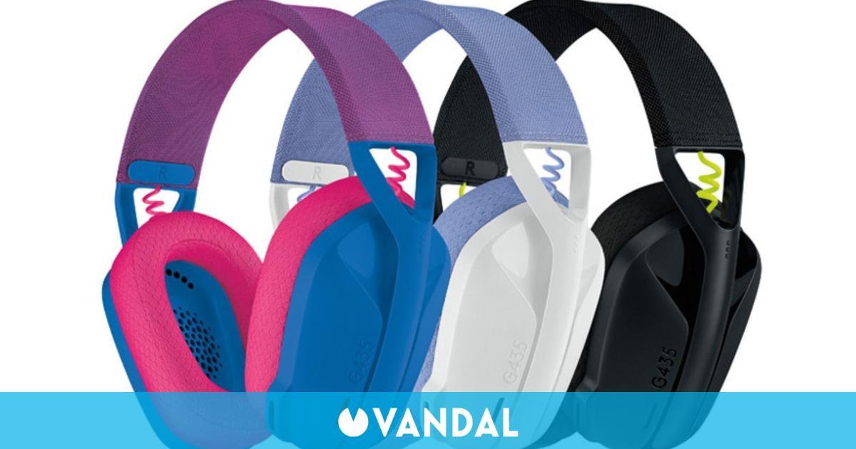 Logitech se actualiza con unos los auriculares G435, flexibles, sostenibles y con colores