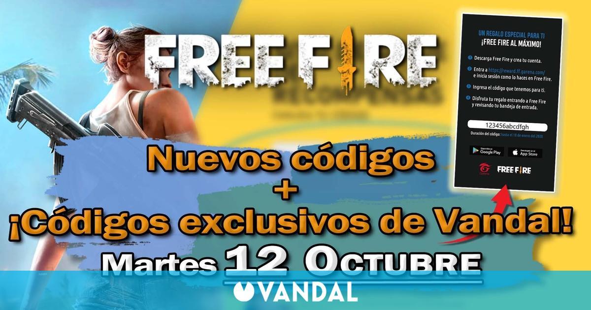 Free Fire: Códigos para hoy martes 12 de octubre de 2021 – Recompensas gratis