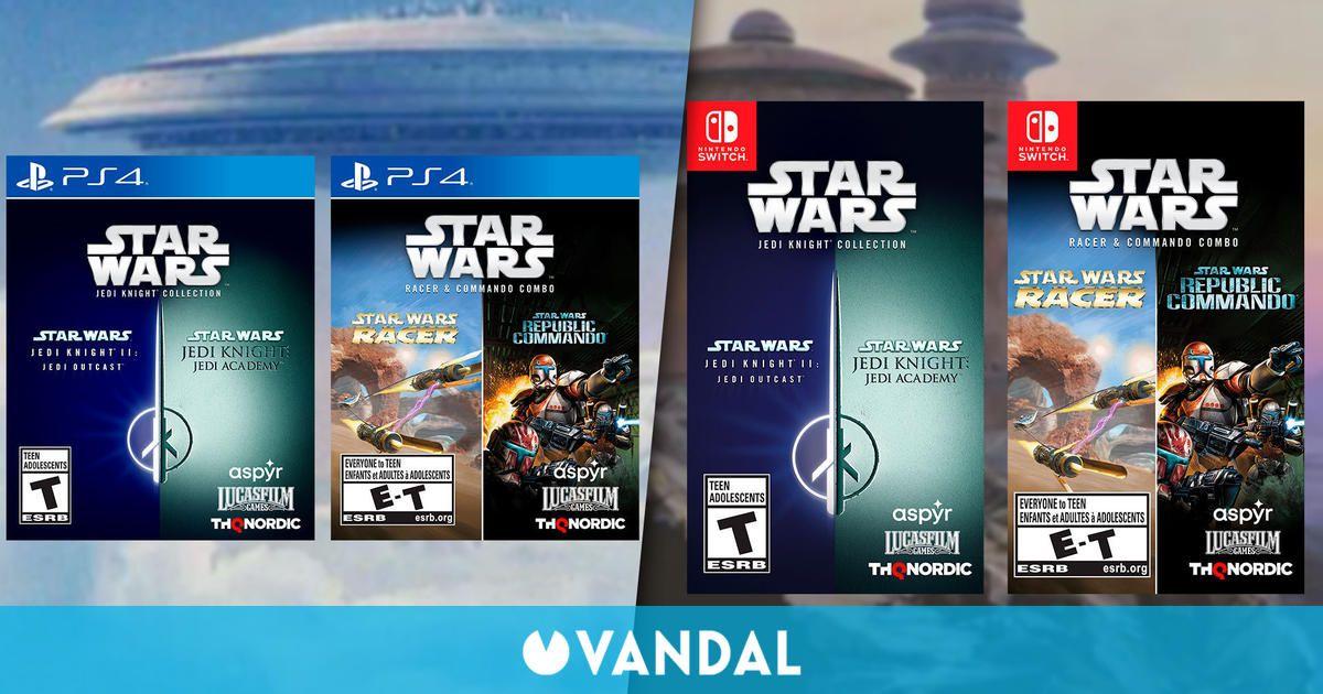 Los Star Wars Jedi Knight, Racer y Commando tendrán lanzamiento físico en PS4 y Switch