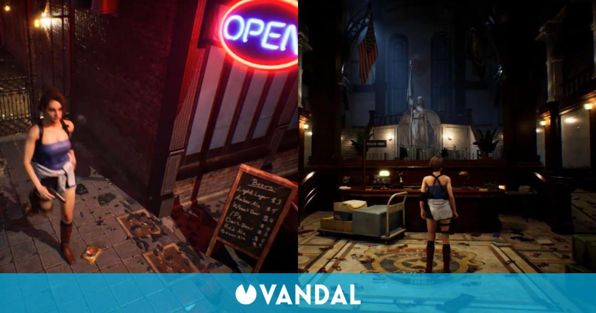 Recrean Resident Evil 3 Remake con cámaras fijas y Jill Valentine en la Comisaría de Raccoon City