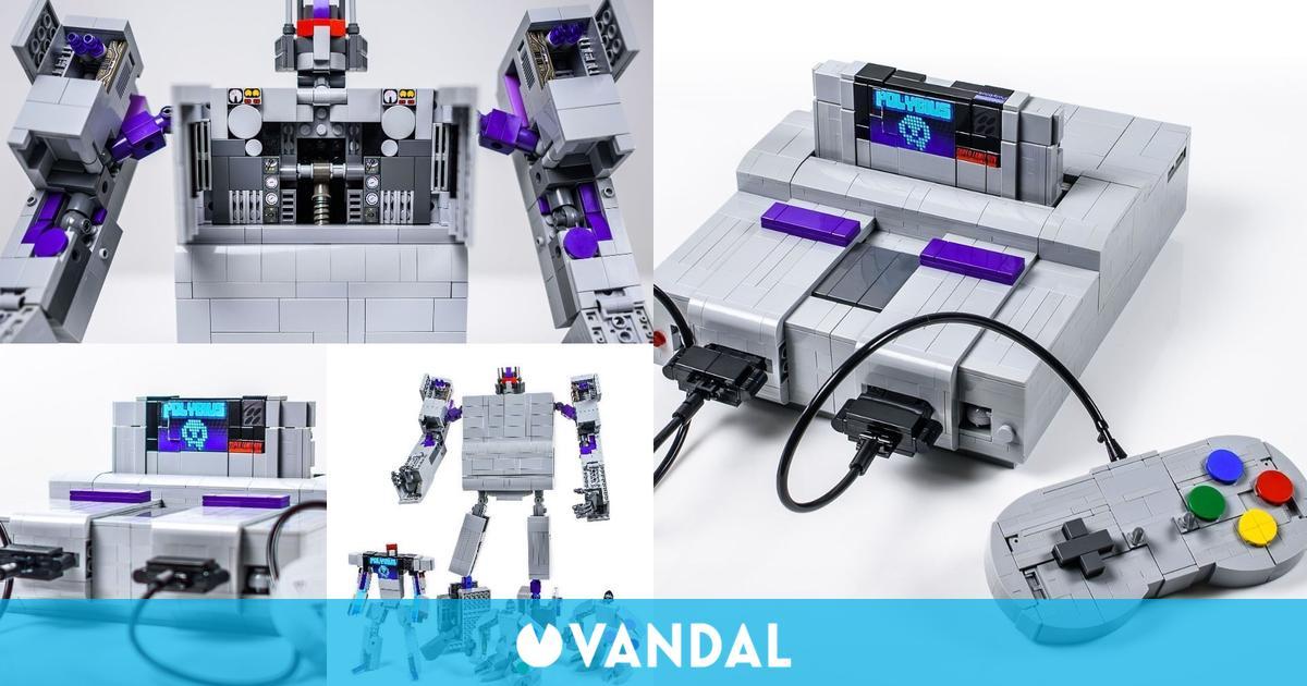 Esta impresionante réplica de Super Nintendo con LEGO se convierte en un Transformer