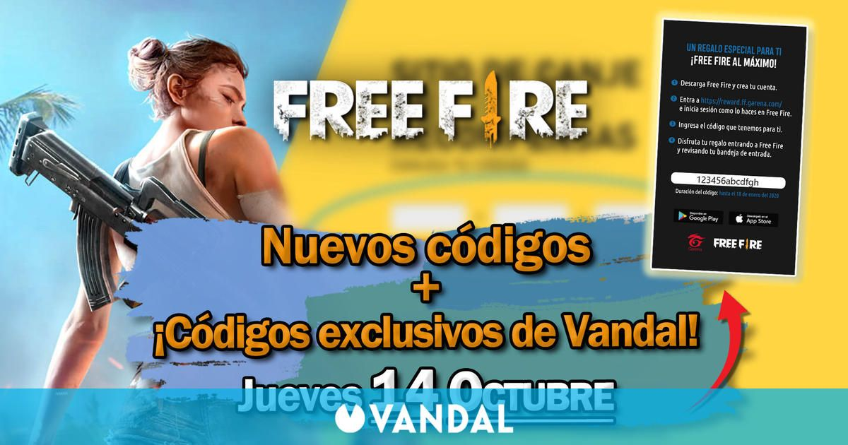 Free Fire: Códigos para hoy jueves 14 de octubre de 2021 – Recompensas gratis