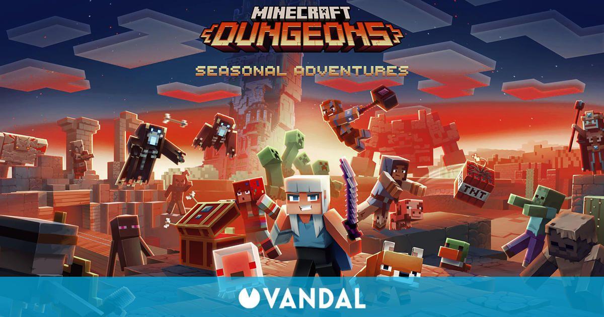 Minecraft Dungeons recibirá temporadas, un pase de batalla y mucho más