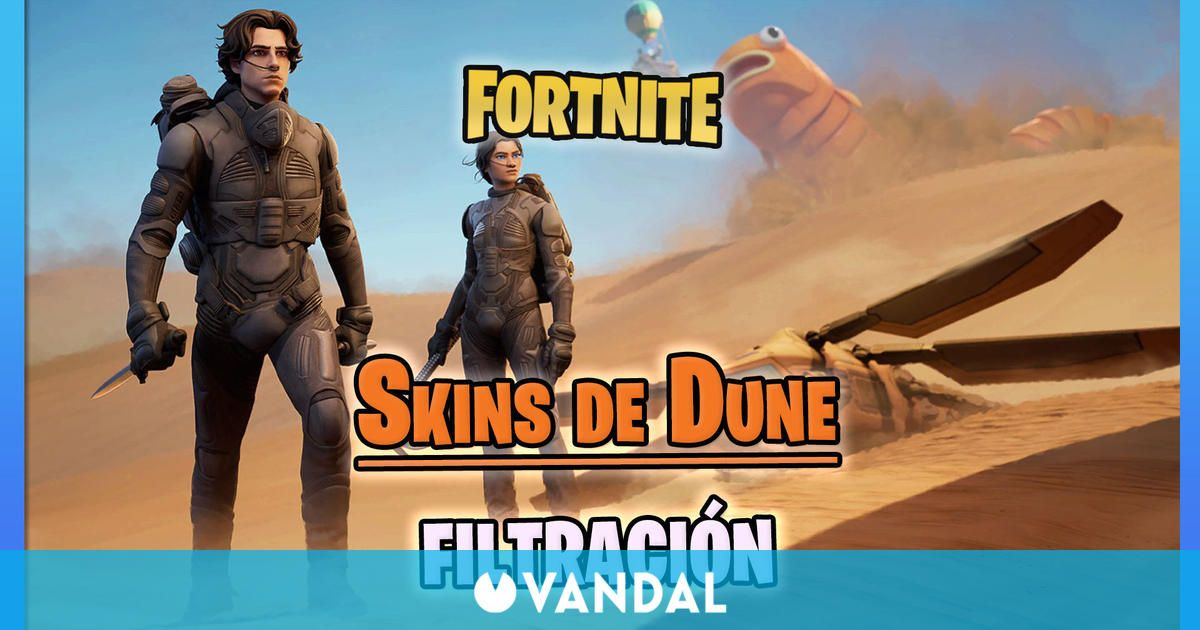 Fortnite: Se filtran las skins de Dune con Paul Atreides, Chani y más