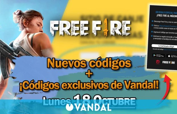 Free Fire: Códigos para hoy lunes 18 de octubre de 2021 – Recompensas gratis