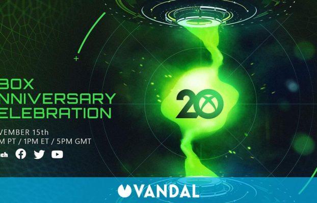 Xbox celebrará un evento el 15 de noviembre con motivo de su 20 aniversario
