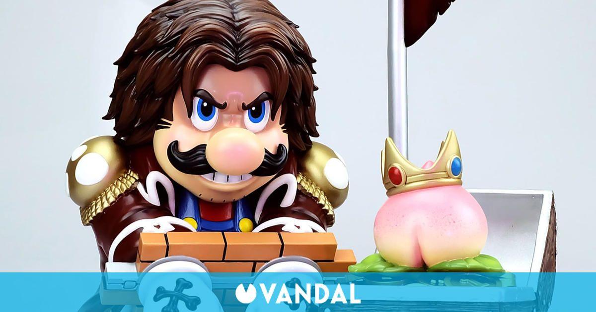 Super Mario Bros. y One Piece se fusionan en esta divertida y cara figura