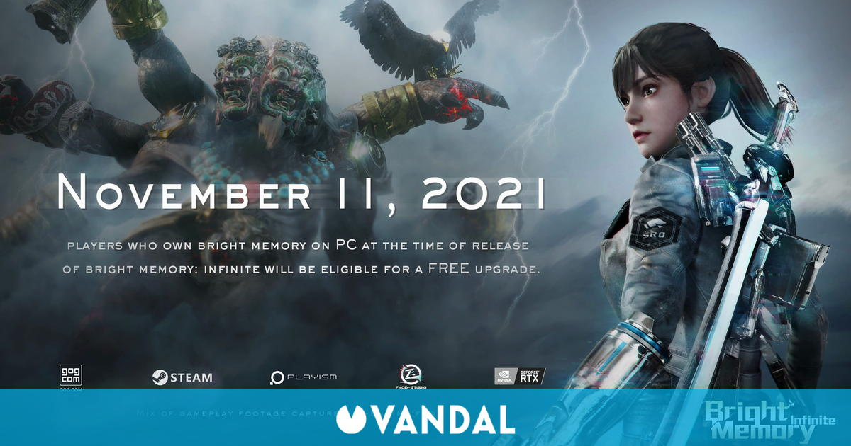 Bright Memory: Infinite llegará el 11 de noviembre a PC y más adelante a Xbox Series X/S