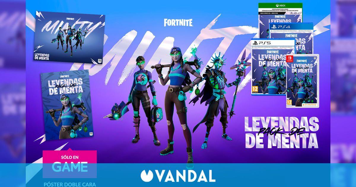 Reserva Fortnite Pack Leyendas de Menta en GAME y llévate un póster exclusivo a doble cara