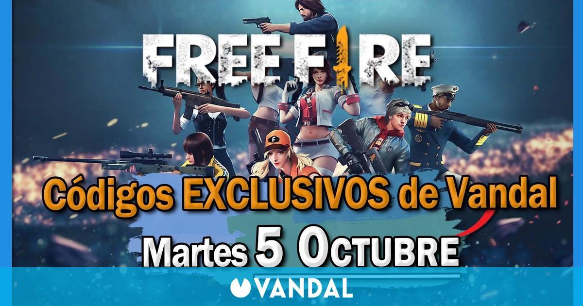 Free Fire: regalamos 20 códigos exclusivos de recompensas, ¡date prisa! (05/10)