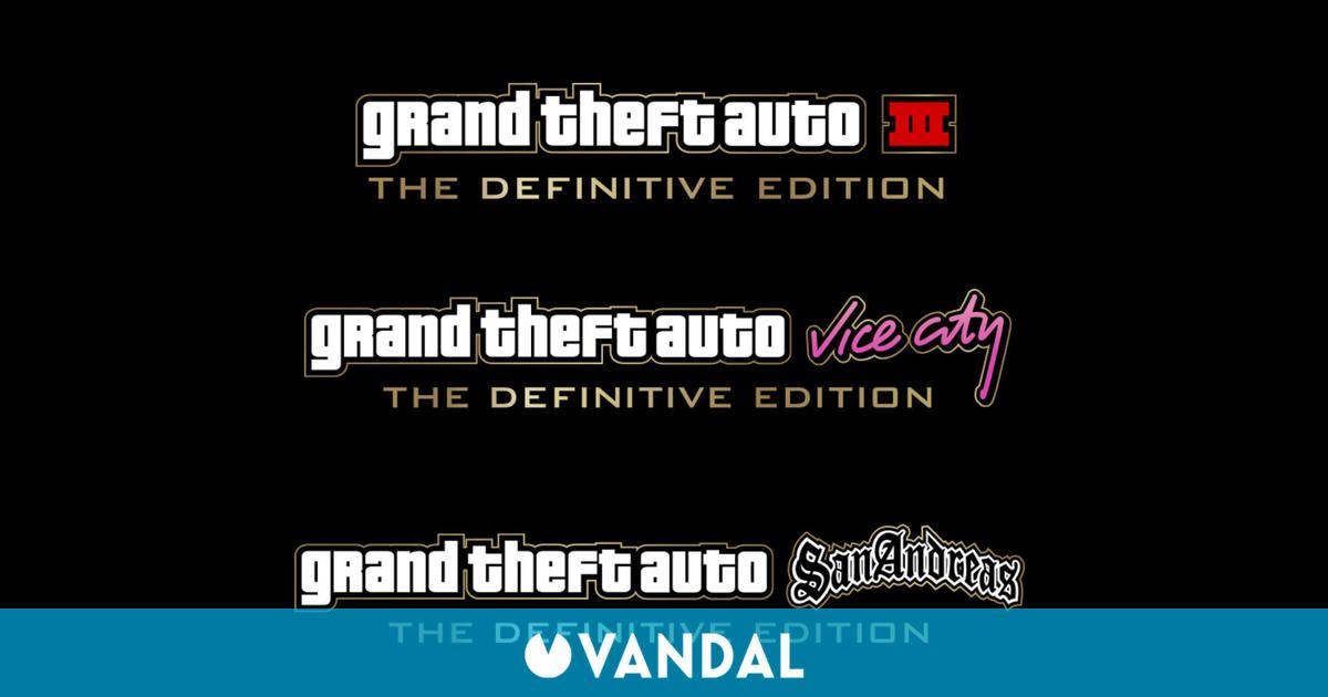 GTA: Se filtran los logos de las Definitive Edition de San Andreas, Vice City y III