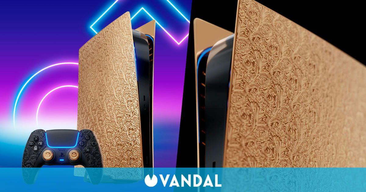 Así es esta PS5 con decoración de oro de más de 300.000 euros