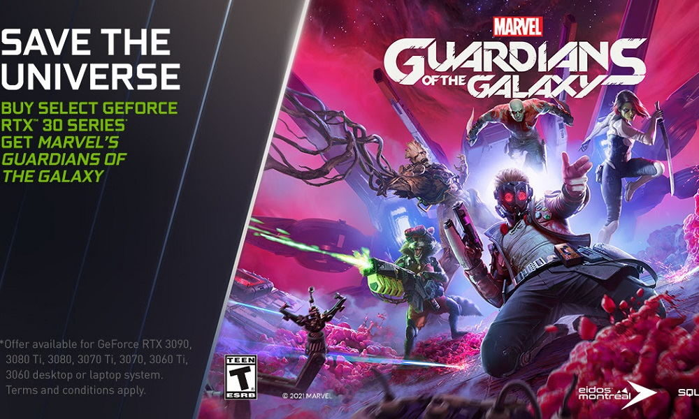 Marvel's Guardians of the Galaxy gratis con GeForce RTX 30