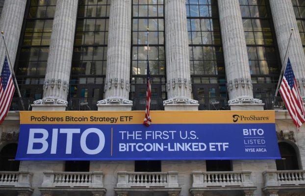 ProShares Bitcoin Futures ETF 'BITO' obtiene $ 570 millones de activos en su debut en el mercado de valores