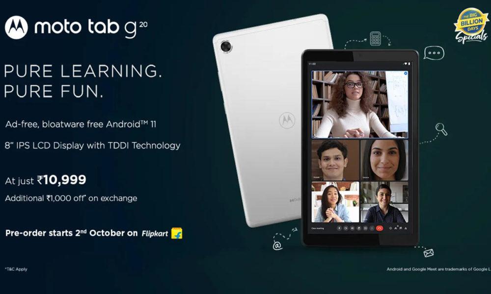 Moto Tab G20, el regreso de Motorola al negocio del tablet