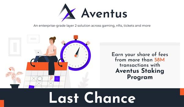 Última oportunidad para unirse al programa de participación de Aventus y ganar con más de 58 millones de transacciones de nivel empresarial de nivel 2