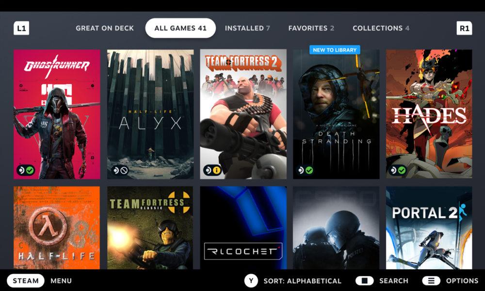 Valve verifica la compatibilidad de Steam Deck y los juegos