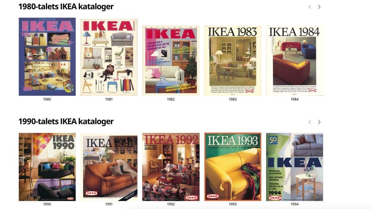 Explora todos los catálogos de IKEA desde 1950 hasta la actualidad
