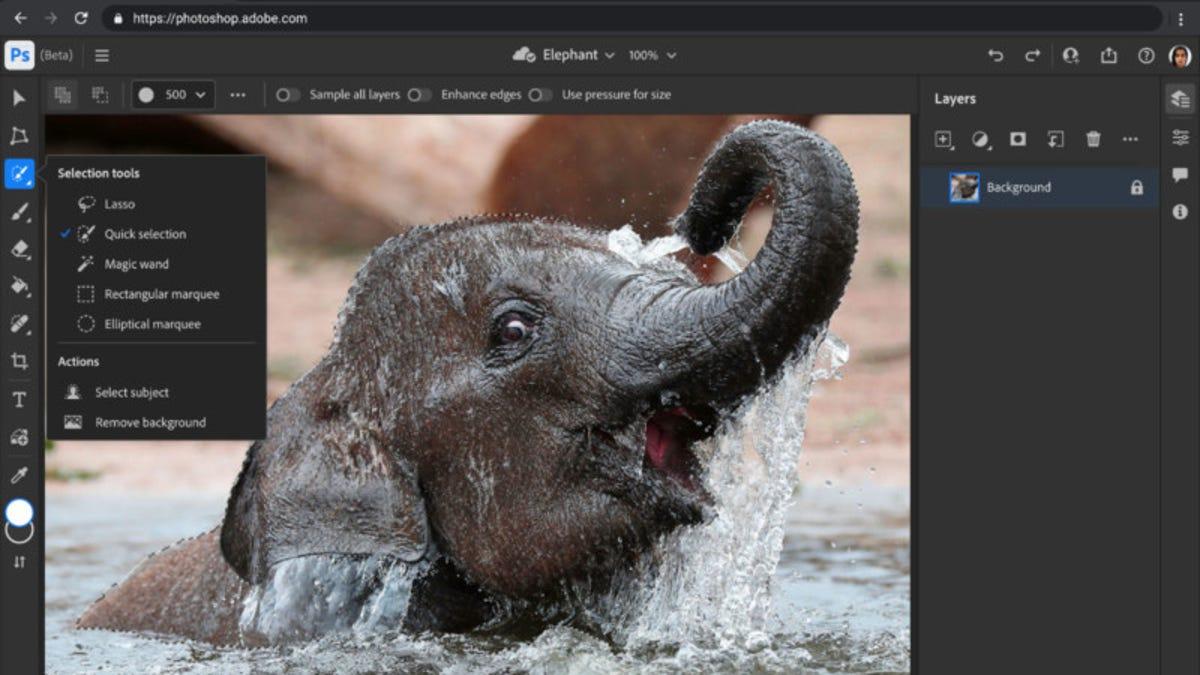 Ya puedes usar la app web de Photoshop que acaba de lanzar Adobe