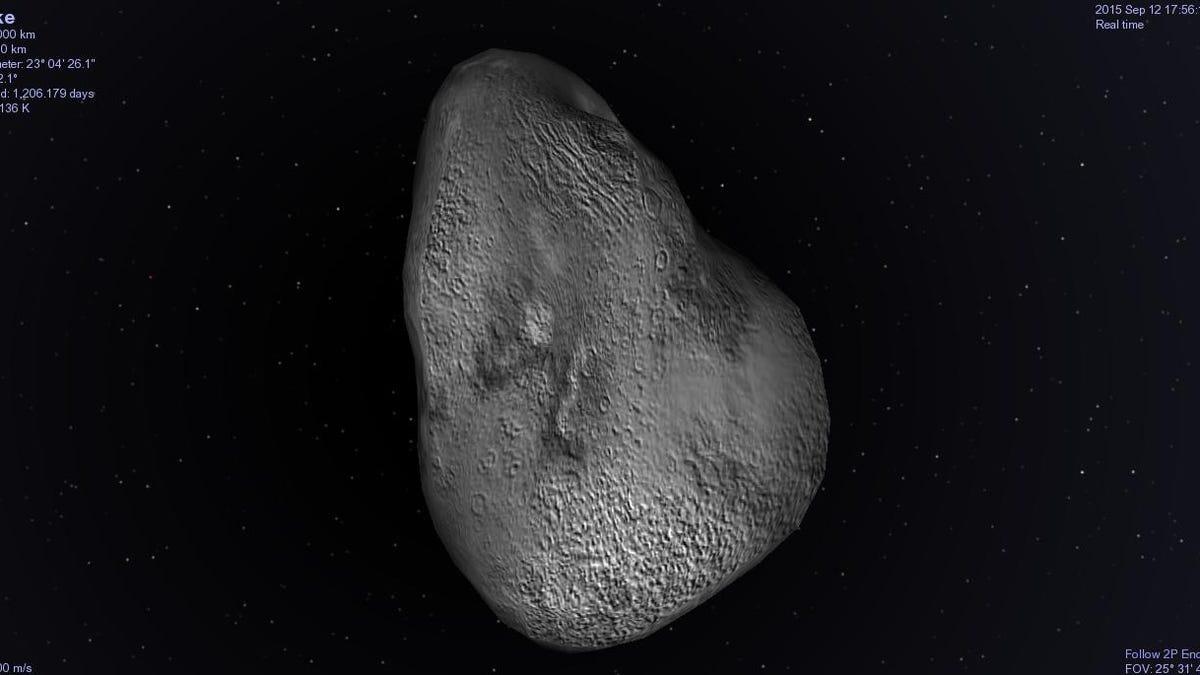 Hay enormes objetos ocultos en la estela del cometa Encke