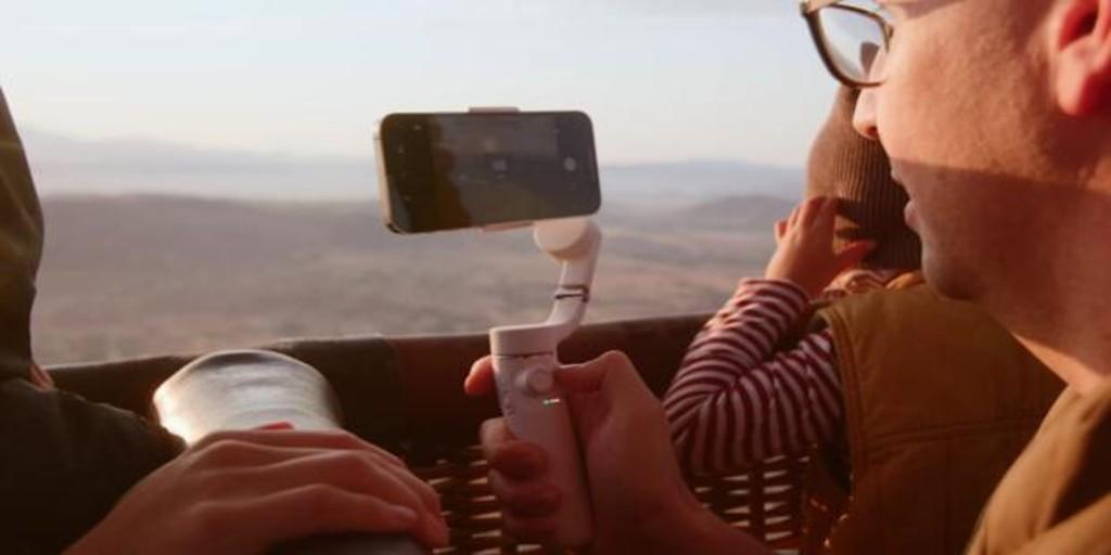 el palo del futuro para grabar vídeos y tomar fotografías