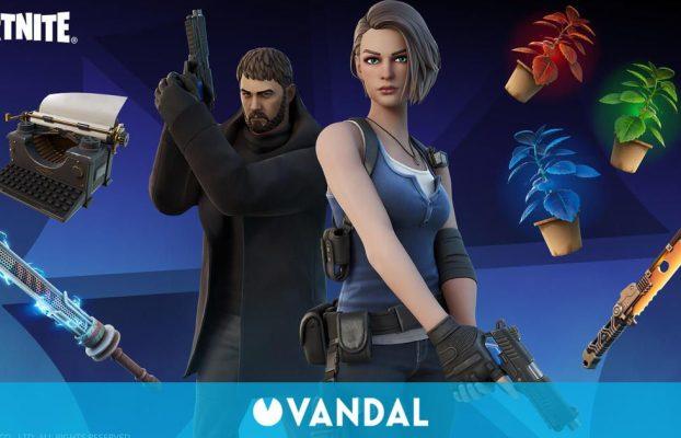 Jill Valentine y Chris Redfield de Resident Evil llegan a Fortnite: Battle Royale